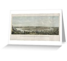 Panoramic Maps Pittsburgh Allegheny & Birmingham drawn from nature Greeting Card