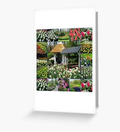 Wishing Well - Colourful Keukenhof Collage Greeting Card