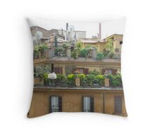 Rooftops in Rome Throw Pillow