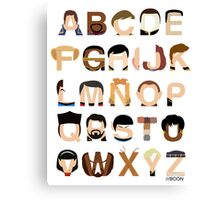 Star Trek Alphabet Canvas Print