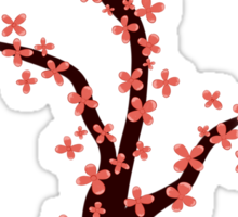 Cherry Blossom on Pink Sticker