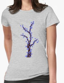 Cherry Blossom on Pink Womens Fitted T-Shirt