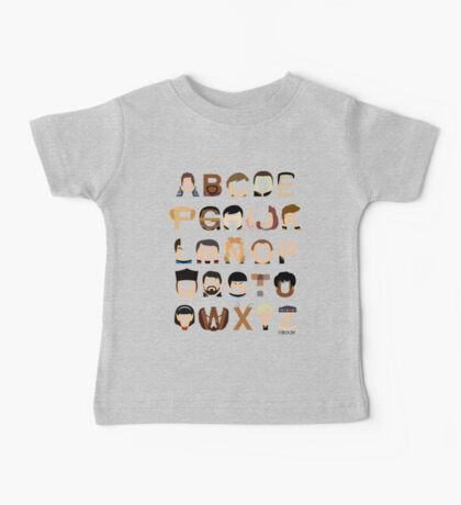 Star Trek Alphabet Baby Tee