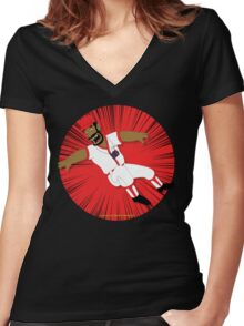 Springfield Mystery Spot! Women's Fitted V-Neck T-Shirt