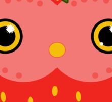 Strawberry owl Sticker