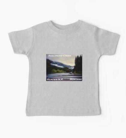 Avalanche Creek Confluence, Glacier N.P., Montana Baby Tee