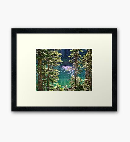 Hall Lake Framed Print