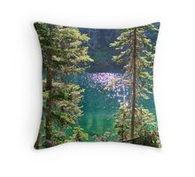 Hall Lake Throw Pillow