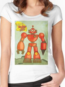 Ro-Boy from space Women's Fitted Scoop T-Shirt