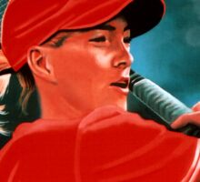 Justine Henin Painting Sticker