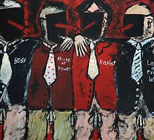 -We stick together we offenders-Acryl auf Tuch,150 x 150 cm by Despinaart