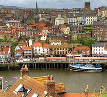 Whitby Town View by Tom Gomez