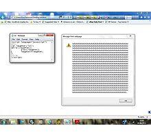 Javascript program: lol -(28/06/12)- screen printout Photographic Print