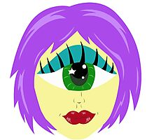 Cyclops Monster Girl Head Photographic Print