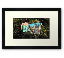 Artist at Work Framed Print