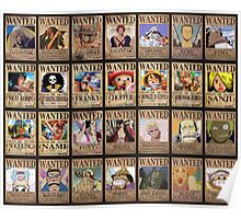 One Piece Wanted LIst Poster