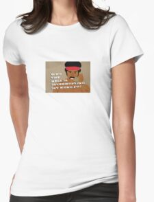 Black Dynamite's Kung-Fu Womens Fitted T-Shirt
