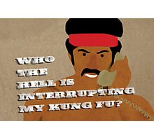 Black Dynamite's Kung-Fu Photographic Print