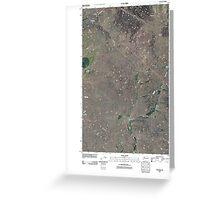 USGS Topo Map Washington State WA Telford 20110401 TM Greeting Card