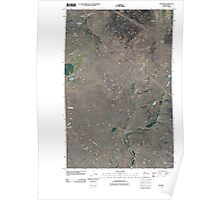 USGS Topo Map Washington State WA Telford 20110401 TM Poster