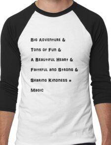 The Mane 6 and their phrases Men's Baseball ¾ T-Shirt