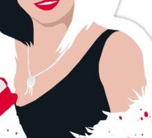 People always underestimate a girl in diamonds and furs (Cruella De Vil) Sticker