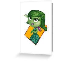 Disgust - pixel art Greeting Card