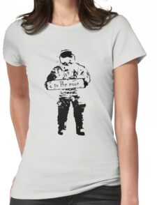 to the moon Womens Fitted T-Shirt