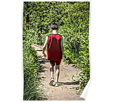 Hiking Alone With Deep Thoughts Poster