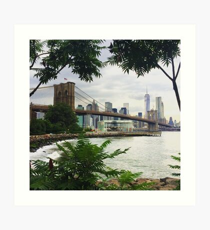 Brooklyn Bridge View Art Print