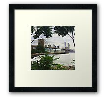 Brooklyn Bridge View Framed Print
