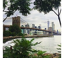 Brooklyn Bridge View Photographic Print