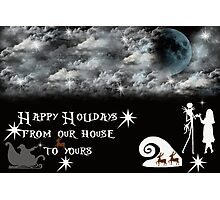 The Nightmare Before Christmas tribute Photographic Print