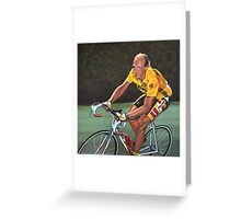 Laurent Fignon Painting Greeting Card