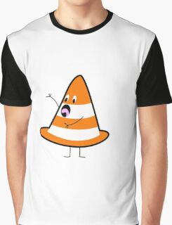 Shocked Traffic Cone Graphic T-Shirt