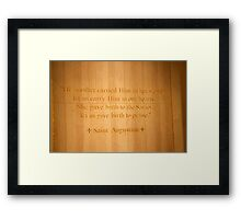 Give birth to praise! Framed Print