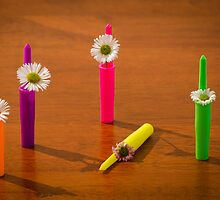 Flowers in Pen Lids by Handy Andy Pandy