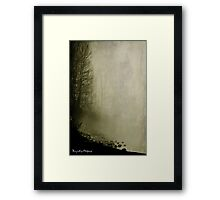Wishing you were here. Framed Print