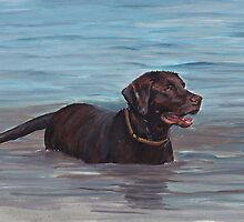Chocolate Labrador Retriever by Charlotte Yealey