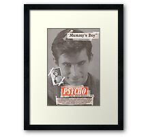 Psycho Tabloid Framed Print