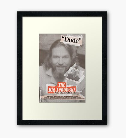 The Big Lebowski Tabloid Framed Print