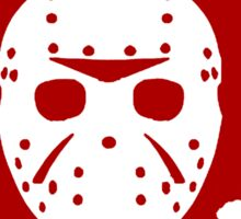 Bloody Jason Mask Sticker