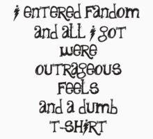 When you enter fandom...black lettering by sparkykot