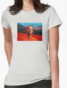 Lance Armstrong Painting Womens Fitted T-Shirt