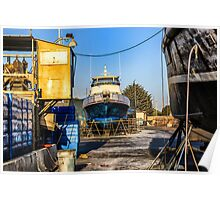 Dry Dock, Ventura Harbor, Ventura, CA Poster