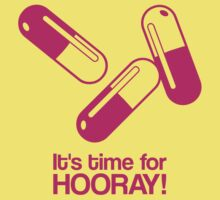 Hooray pills - magenta - funny graphic by moonshine and lollipops