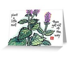 Mint (the Herb Series) Greeting Card