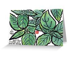 Basil (the Herb Series) Greeting Card