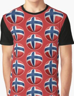 Norway - Norwegian Flag - Football or Soccer 2 Graphic T-Shirt