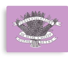 Congratulations - purple Canvas Print